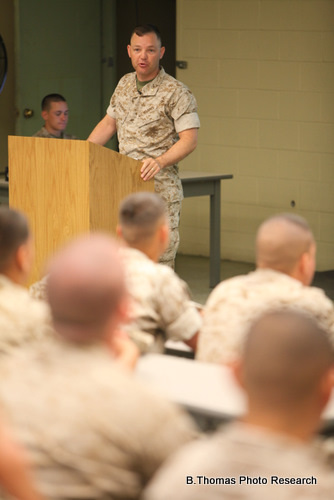 """Instructor Speaks to Marines about """"Don't Ask Don't Tell"""" Repeal"""