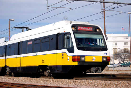 DART Train in Dallas, Texas
