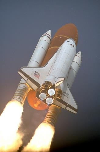 STS-45 Launch (Atlantis Space Shuttle)