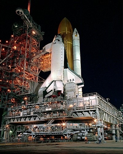 Sts 55 Rollout (space Shuttle Columbia)