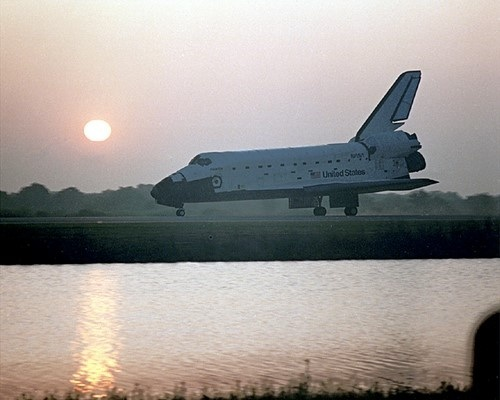 Space Shuttle Atlantis at Sunrise