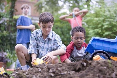 Children Playing in the Dirt