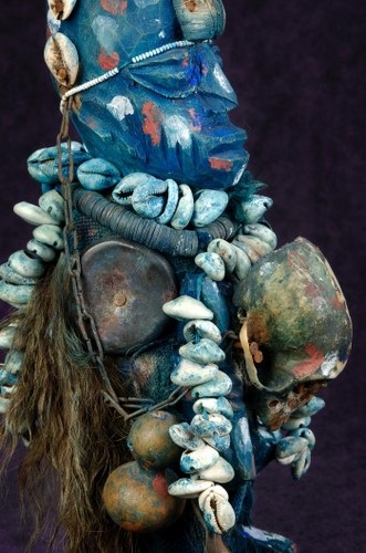 Close Up of Shapona, the West African God of Smallpox