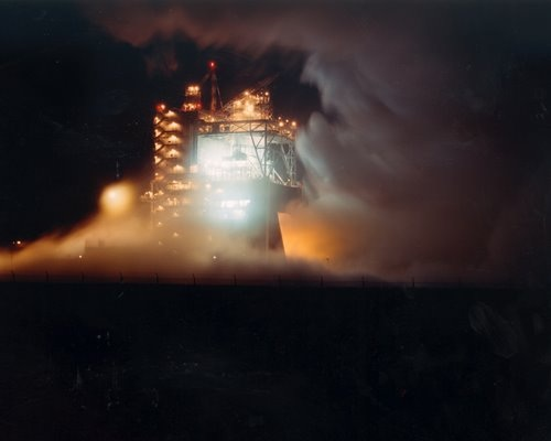 A-1 Test Stand Night Firing