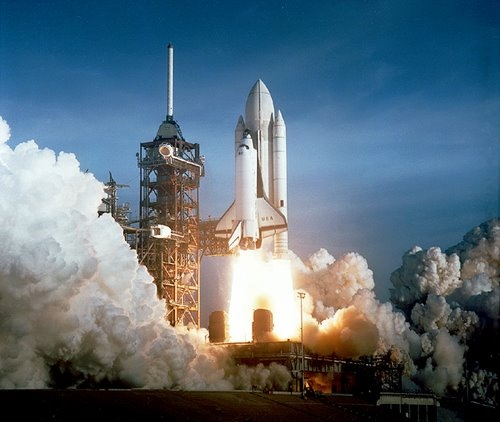 First Launch of Columbia Space Shuttle (STS-1)