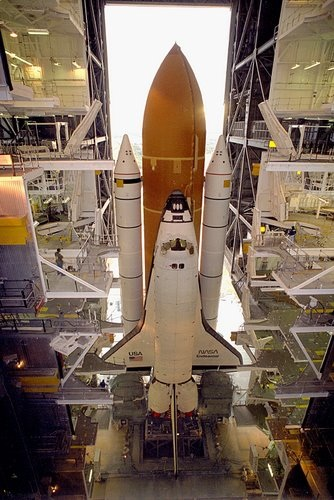 STS-67 Rollout - Endeavour