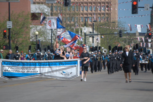 Marching Band at Cheyenne Frontier Days Parade