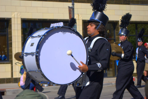 Drummer in Marching Band