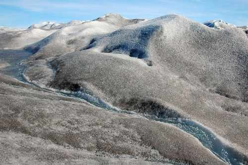 A Stream of Runoff from the Greenland Ice Sheet