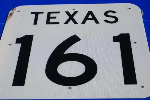 Texas Highway 161 Road Sign