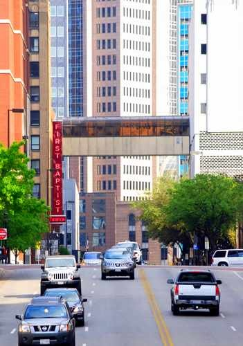 Traffic in Downtown Dallas