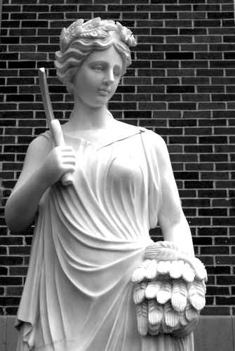 Close up of a Statue at Old Parkland Hospital