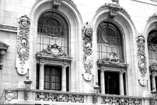Black and White Old Architecture Photo