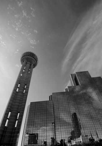 Reunion Tower and Reunion Hyatt Regency