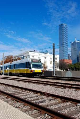 Dart Train Leaving Union Station in Dallas