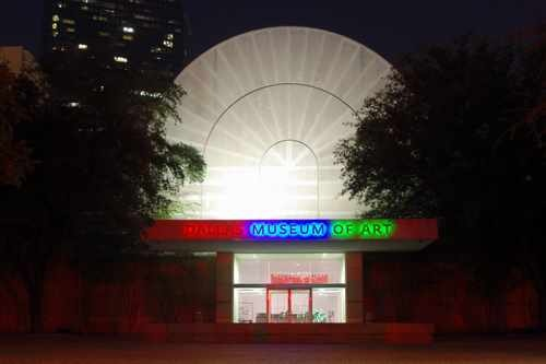 Dallas Museum of Art Entrance at Night