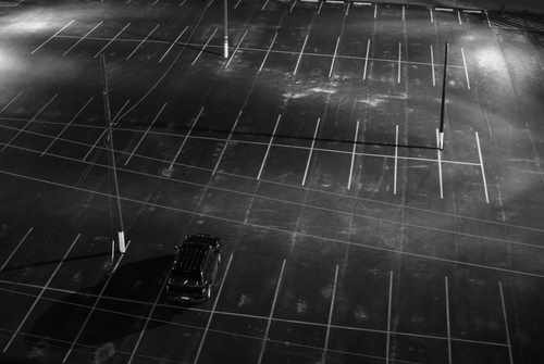 Empty Parking Lot in Downtown Ft. Worth, TX