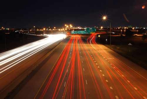 Long Exposure Photo of Cars on a Highway