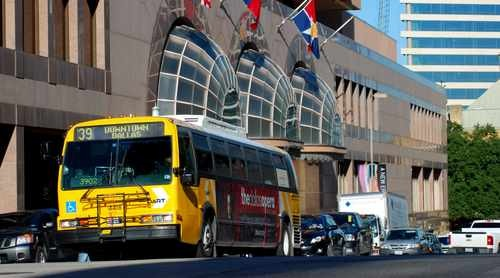 DART Bus in Downtown Dallas