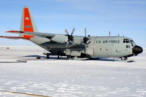 Lc 130 Cargo Plane at the South Pole