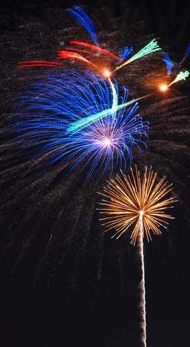 Fireworks Stock Photo - vertical