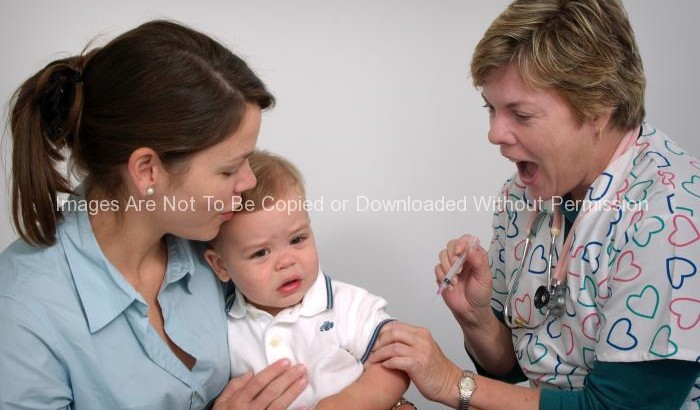 Infant Receiving an Intramuscular Immunization