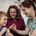 Child Receiving a Flu Vaccination