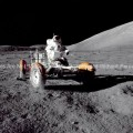 Apollo 17 Photo – Eugene A. Cernan on Lunar Rover GPN-2000-001139