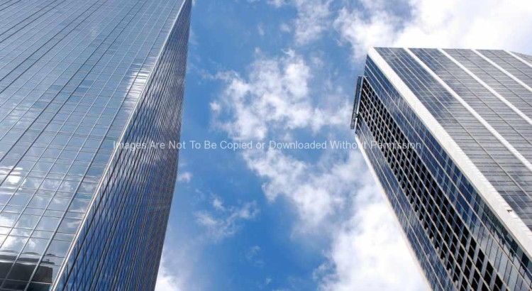 Two tall buildings in downtown Dallas, TX