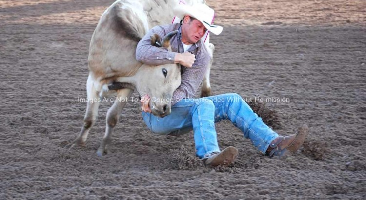 Rodeo Cowboy at Cheyenne Frontier Days Slack