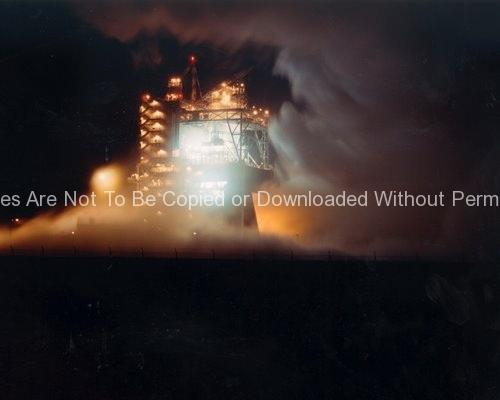 A-1 Test Stand Night Firing GPN-2000-000551