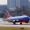 Southwest Airlines Boeing 737 Landing at Love Field in Dallas