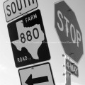 Texas Highway Signs Farm Road 880 and Stop Sign