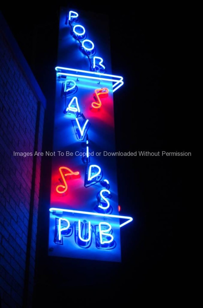 Poor David's Pub Neon Sign