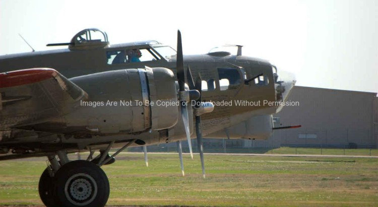 Old World War II Bomber Plane