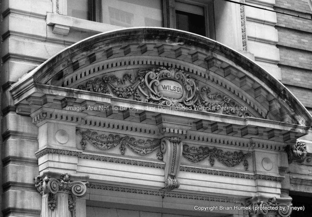 Wilson building close up detail of entrance