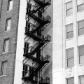 Fire escape of Lone Star Gas Building Dallas, TX